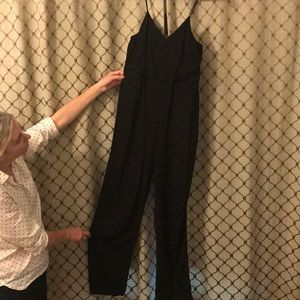Anthropology Black Size Four Full length Jumpsuit.